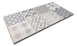 szaro niebieski decor patchwork Keroe Arkety Silver 30x60