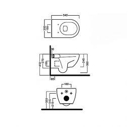 hatria miska wc biała miska wc toaleta ceramika sanitarna