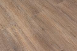 Brązowe płytki drewnopodobne Viggo Roble 20x120 tworzące kompozycję