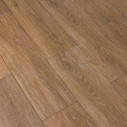Kompozycja ułożona z brązowych płytek gresowych drewnopodobnych Viggo Fresno 20x75