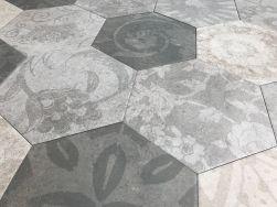 szary hexagon Hexagon Patchwork Cold Argenta