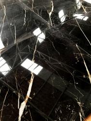 płytki czarne gresowe z białą żyłką 59x118 Varenna LUX Alfalux