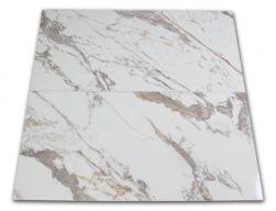 Płytka imitująca marmur w połysku Veins Gold Brillo 60x120