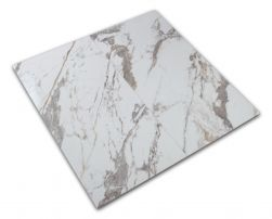 Płytka imitująca marmur biało-szara podwójna Veins Gold Brillo 60x120