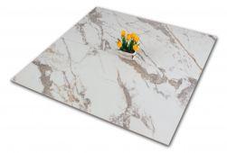 Płytka imitująca marmur biało-szara z kwiatkiem Veins Gold Brillo 60x120