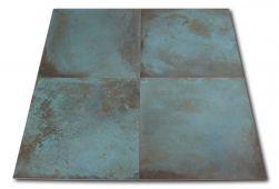 Cztery płytki metalizowane turkusowe Trace Mint 60x60