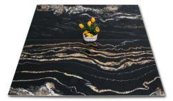 Dwie płytki czarne w połysku imitujące marmur Leeds Negro 60x120