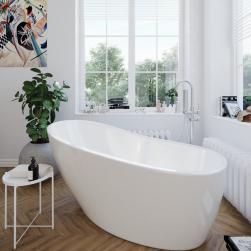 łazienka z oknem i wanną wolnostojącą bellis massi