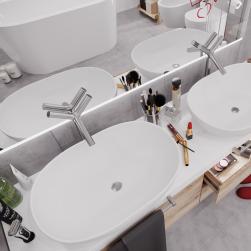 Massi łazienka z umywalką nablatową