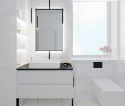 łazienka z umywalką nablatową