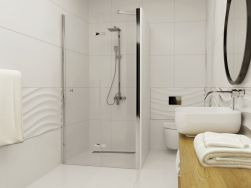 łazienka z Drzwi prysznicowe LAPAZ 90 cm