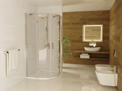 łazienka Kabina prysznicowa półokrągła SORATA 80 cm