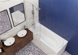 łazienka z Wanna tradycyjna Bonta 140x75