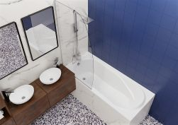 łazienka Wanna tradycyjna Bonta 160x75