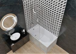łazienka z Wanna tradycyjna Kuge 120x75