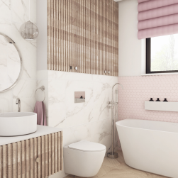 łazienka Miska wisząca DECOS MINI RIMLES+ deska SLIM