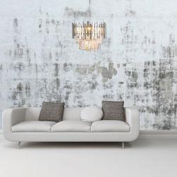 Żyrandol Aspen chrome 6xE14 glamour milagro