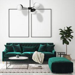 Żyrandol Sfera black 3xE14 minimalistyczny milagro