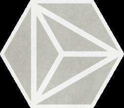 Varadero Grey 19,8x22,8 płytka heksagonalna