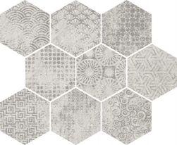 vives hexagon na ściane podłoge  33x27  surowy beton minimalistyczna lazienka kuchnia salon