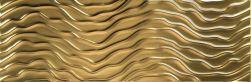 płytki fala złote dekoracyjne 25x75 aparici Solid Gold Sysmic