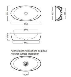 hatria umywalka nablatowa owalna łazienka ceramika