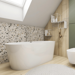 łazienka z Wanna wolnostojąca THERMO 150cm