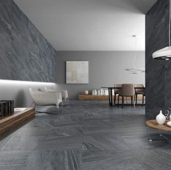 salon minimalistyczny w szarości