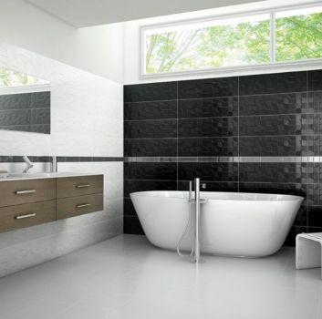 Aparici nowoczena łazienka czarno biała