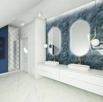 Granatowa łazienka