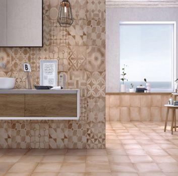 Łazienka cotto i patchwork