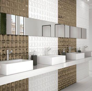 Nowoczesna luksusowa łazienka w połysku