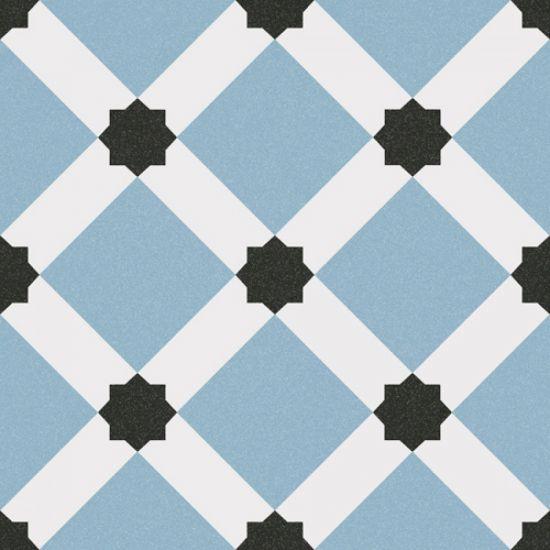 płytki niebieskie patchworki do łazienki dekoracyjne kolorowe vives Palau Celeste 1900 20x20