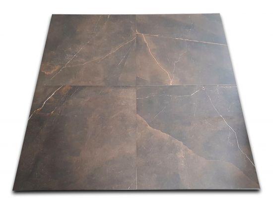 płytki brązowy staynowany marmur Emerita Dark 60x60 Argenta