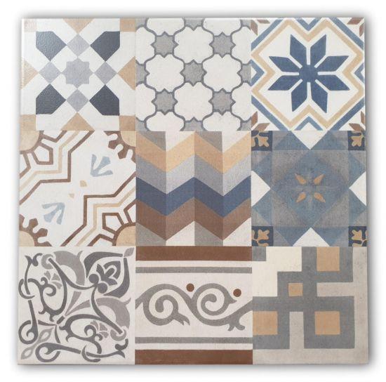 płytki patchwork kolorowe 33x33