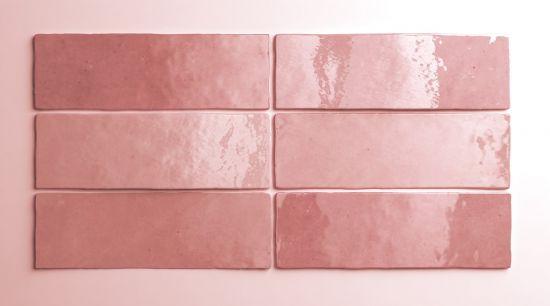 equipe kafelki na sciane różowe kafelki 6,5x20