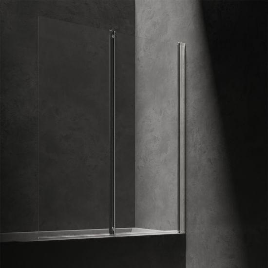 Kingston parawan nawannowy 120 cm chrom/transparentny XHE20CRTR