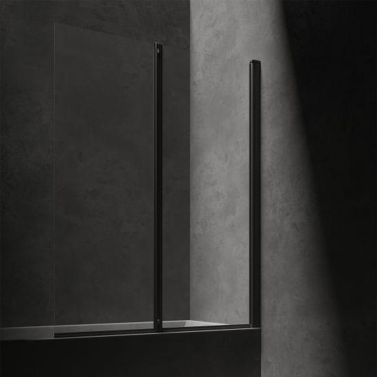 Kingston parawan nawannowy 120 cm profil czarny mat/szkło przezroczyste XHE20BLTR