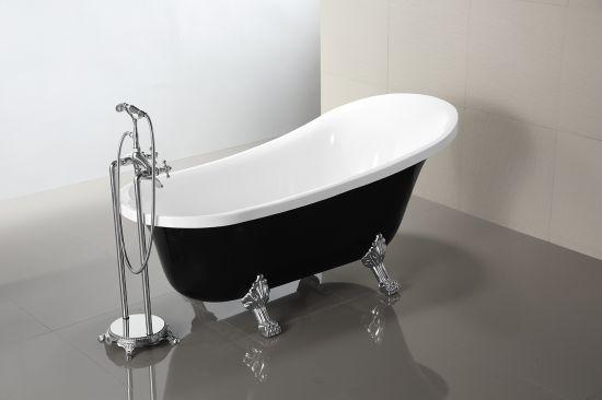 Massi czarna wanna wolnostojąca elegancka łazienka