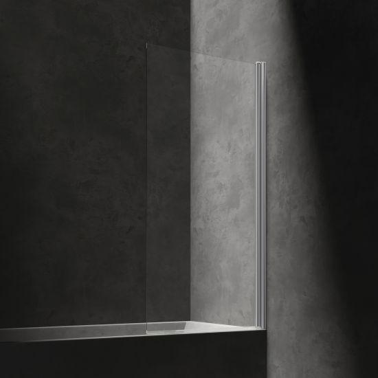 Kenton parawan nawannowy 70 cm szklany chrom/ transparentny MP75CRTR