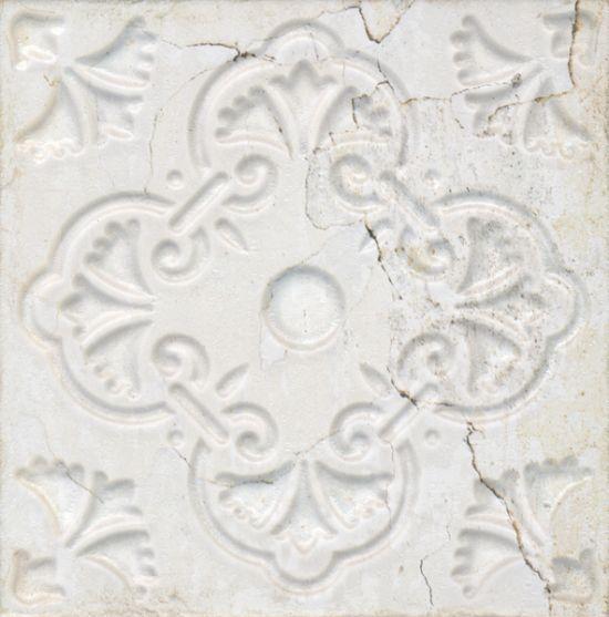 płytki dekoracyjne 20x20 białe Aparici Aged White Ornato 20x20