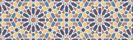 aparici płytka ścienna płytka dekoracyjna płytka rektyfikowana gres alhambra Alhambra Blue Mexuar