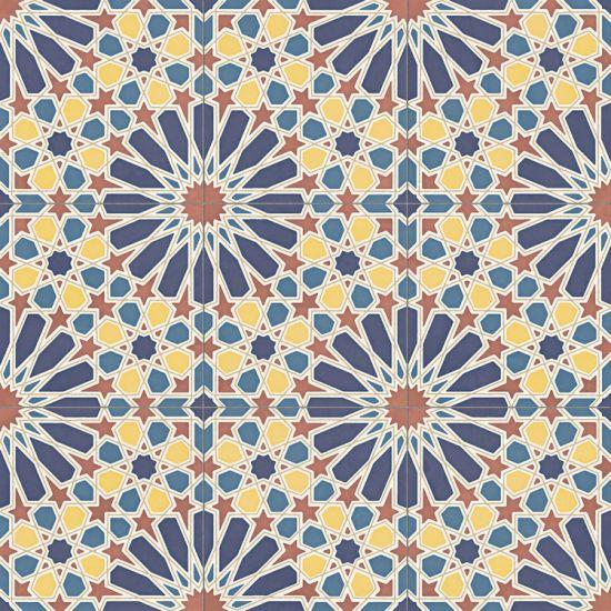 aparici alhambra płytka scienne płytki podłogowe gres płytka rektyfikowana patchwork Alhambra Blue Natural  59.2X59.2