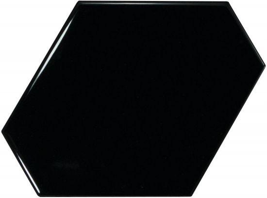 equipe kafelki na ściane czarne błyszczące połysk płytki do łazienki nowoczesna łazienka kuchnia salon  10,8x12,4
