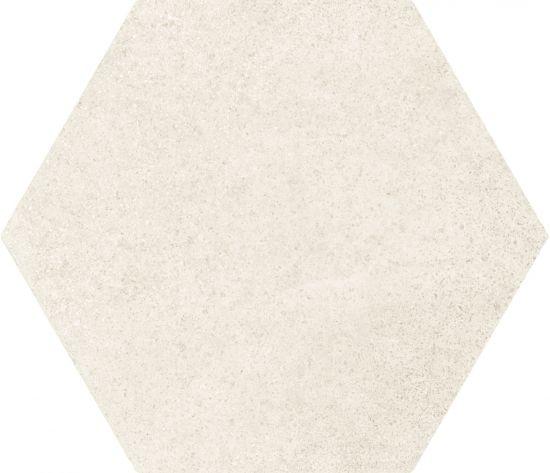 hexagon 17,5x20 kafelki na ściane podłoge płytki matowe gresowe białe nowoczesna łazienka salon kuchnia