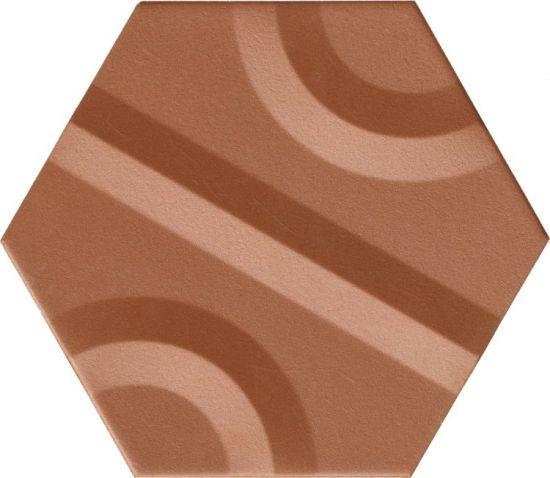 płytki heksagonalne miedziane