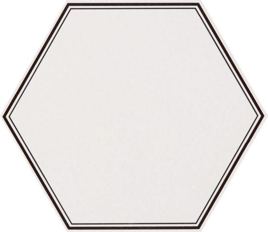 heksagon biało czarny satynowe płytki na ściane podłoge płytki do łazienki salonu