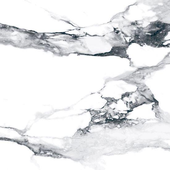 Geotiles płytka biały szary marmur połysk 60x60