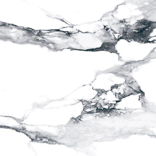 Geotiles płytka biały szary marmur połysk 75x75