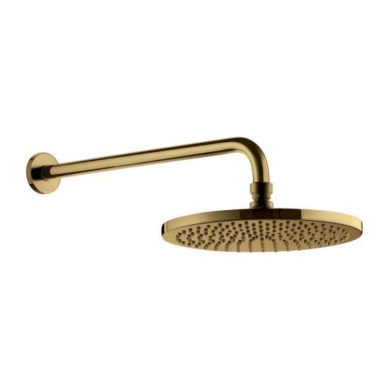 Deszczownica 25 cm okrągła z ramieniem ściennym złoto szczotkowane WGSET1GLB